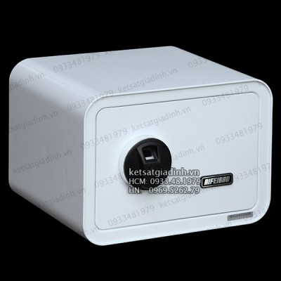 Két sắt mini vân tay màu trắng AifeiBao D25-W
